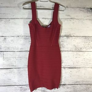 Herve Leger mini dress, oxblood, size S